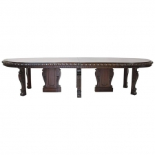 20 Foot Long New York Belle Époque Extension Dining Table in Mahogany, circa 1890