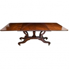9' American Federal Extension Dining Table in Mahogany, circa 1825