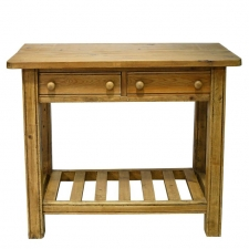 Vintage Rustic English Country-Style Table in Antique Pine