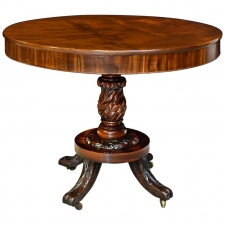 Federal Round Pedestal Table in West Indies Mahogany, New York, circa 1820