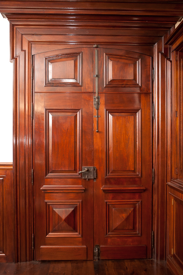 Custom Antique Library Doors (Interior View)
