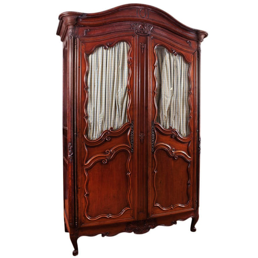 French Louis XV Walnut Armoire, Mid 1700s