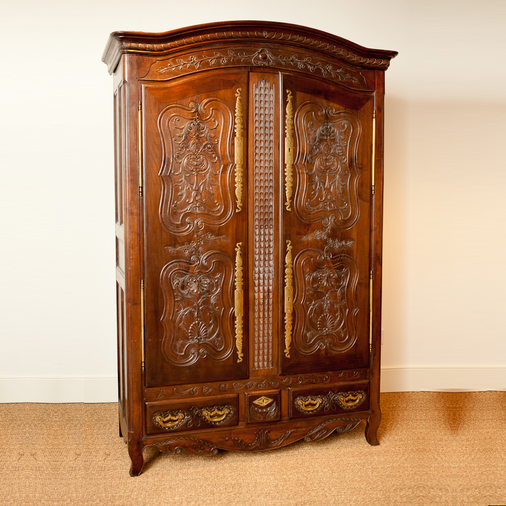 French Antique Armoire in Chestnut c 1830  Bonnin Ashley