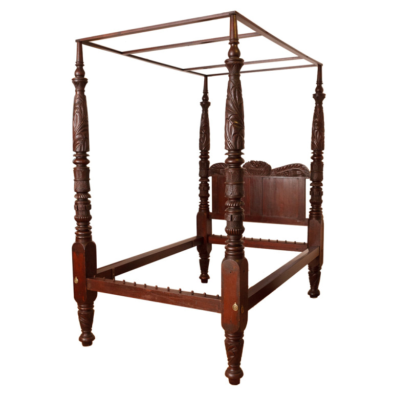 c15b31053435 A Very Fine Antique Empire Four Poster Bed