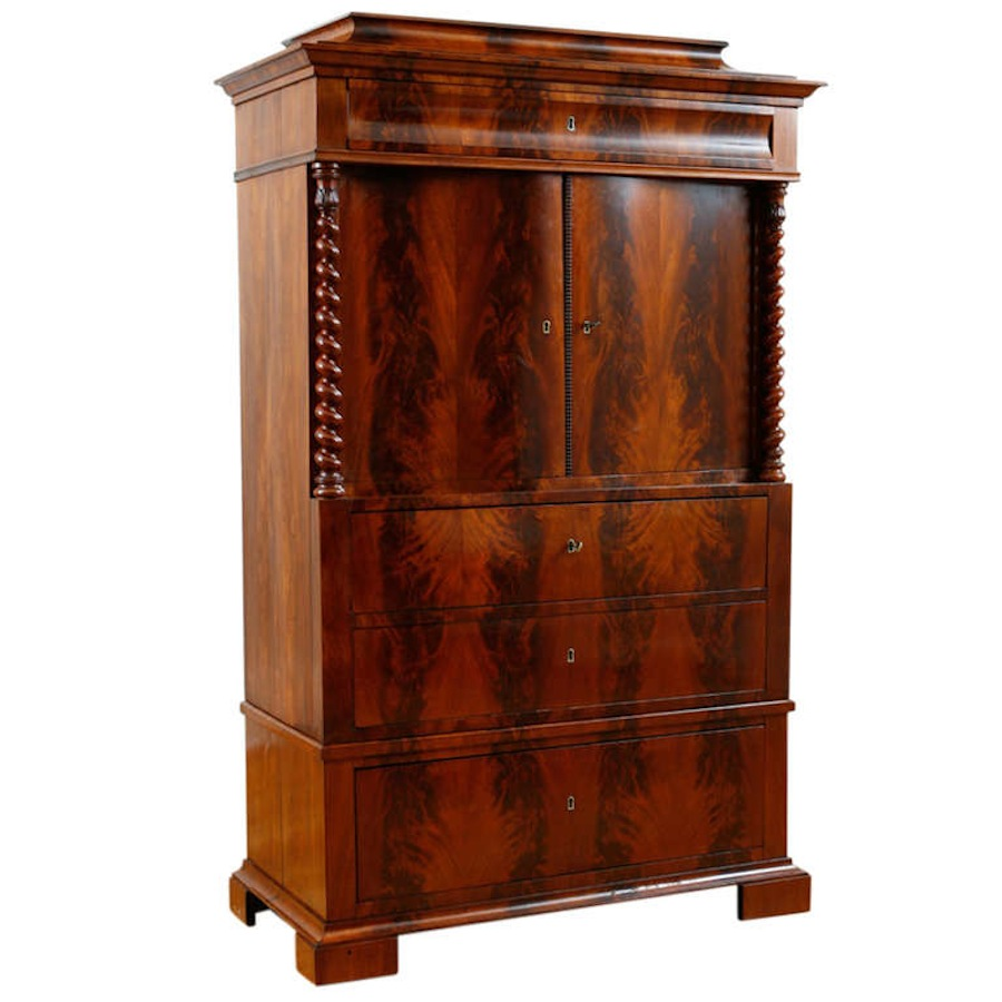 Antique Liquor Cabinet in Cuban Mahogany, c.18 - Bonnin Ashley ...