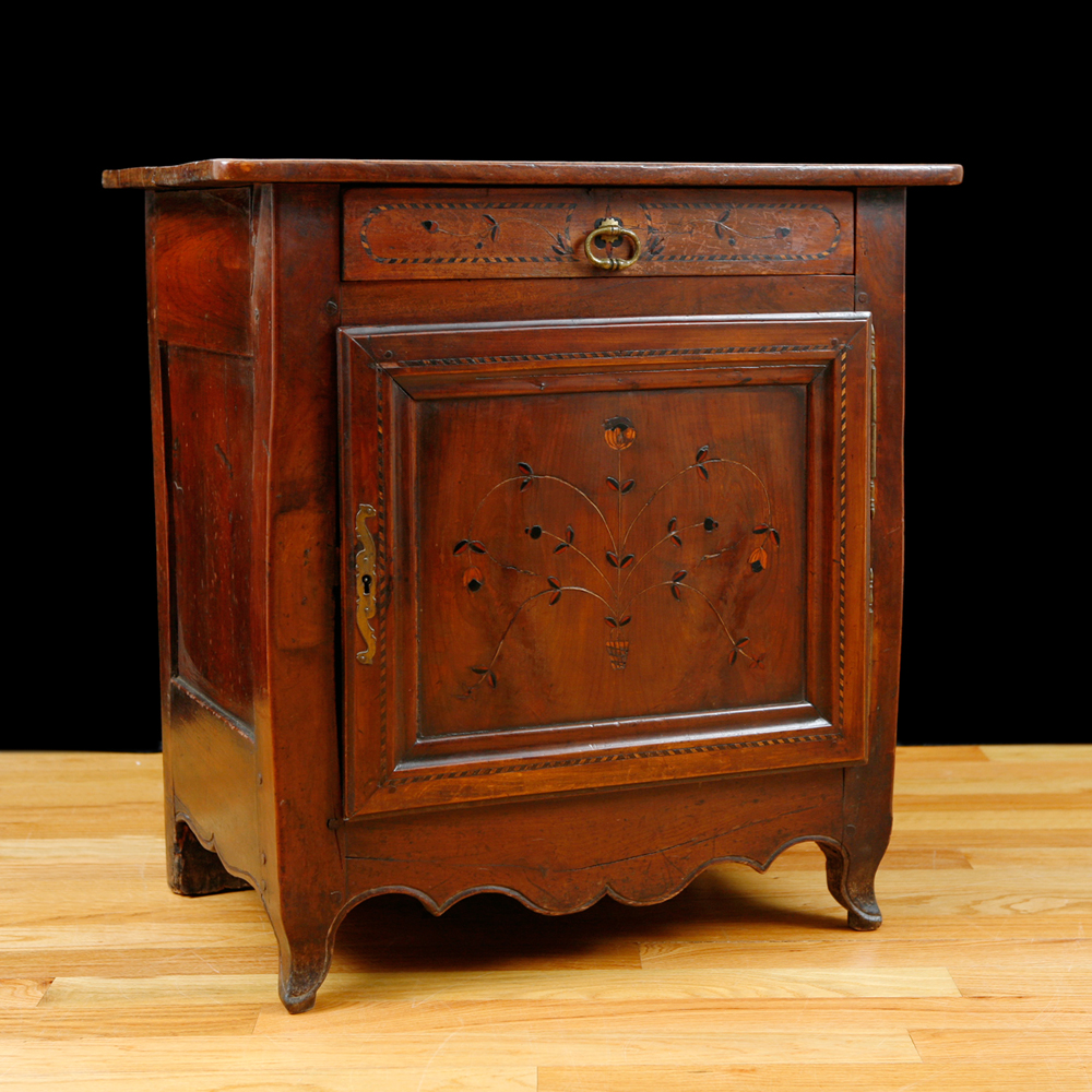 18th Century French Cabinet in Walnut with Inlays. 18th Century French Cabinet in Walnut with Inlays   Bonnin Ashley