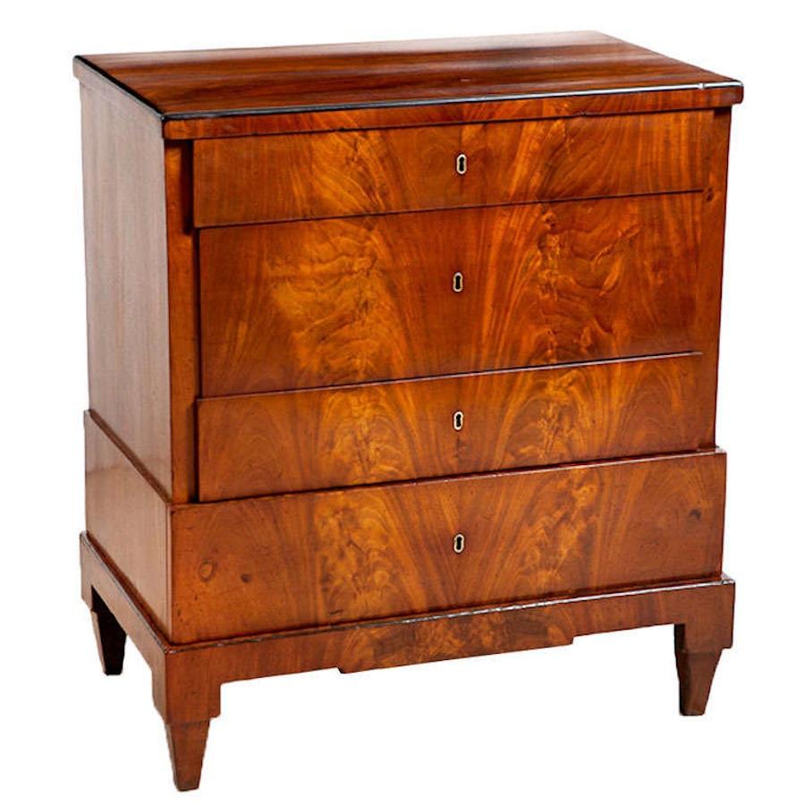 Biedermeier Chest Of Drawers In Mahogany Denmark C 1815 Bonnin Ashley Antiques Miami Fl