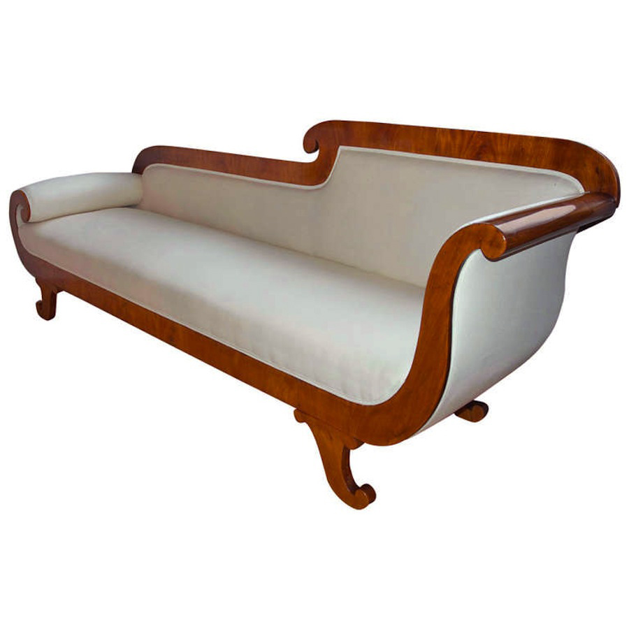 Antique Biedermeier Settee In Cherry on Ashley Furniture Living Room