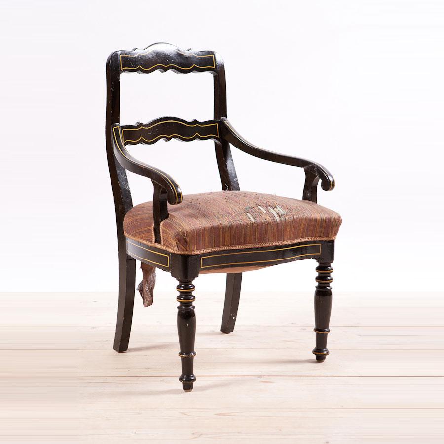 german provincial biedermeier arm chair c 1820