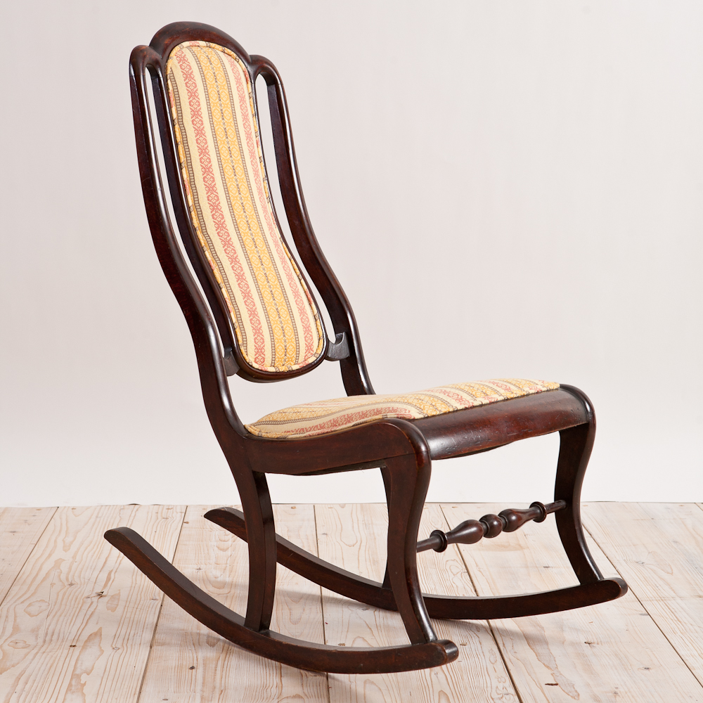 Antique American Second Empire Rocking Chair, c.1860 - Antique American Second Empire Rocking Chair, C.1860 - Bonnin
