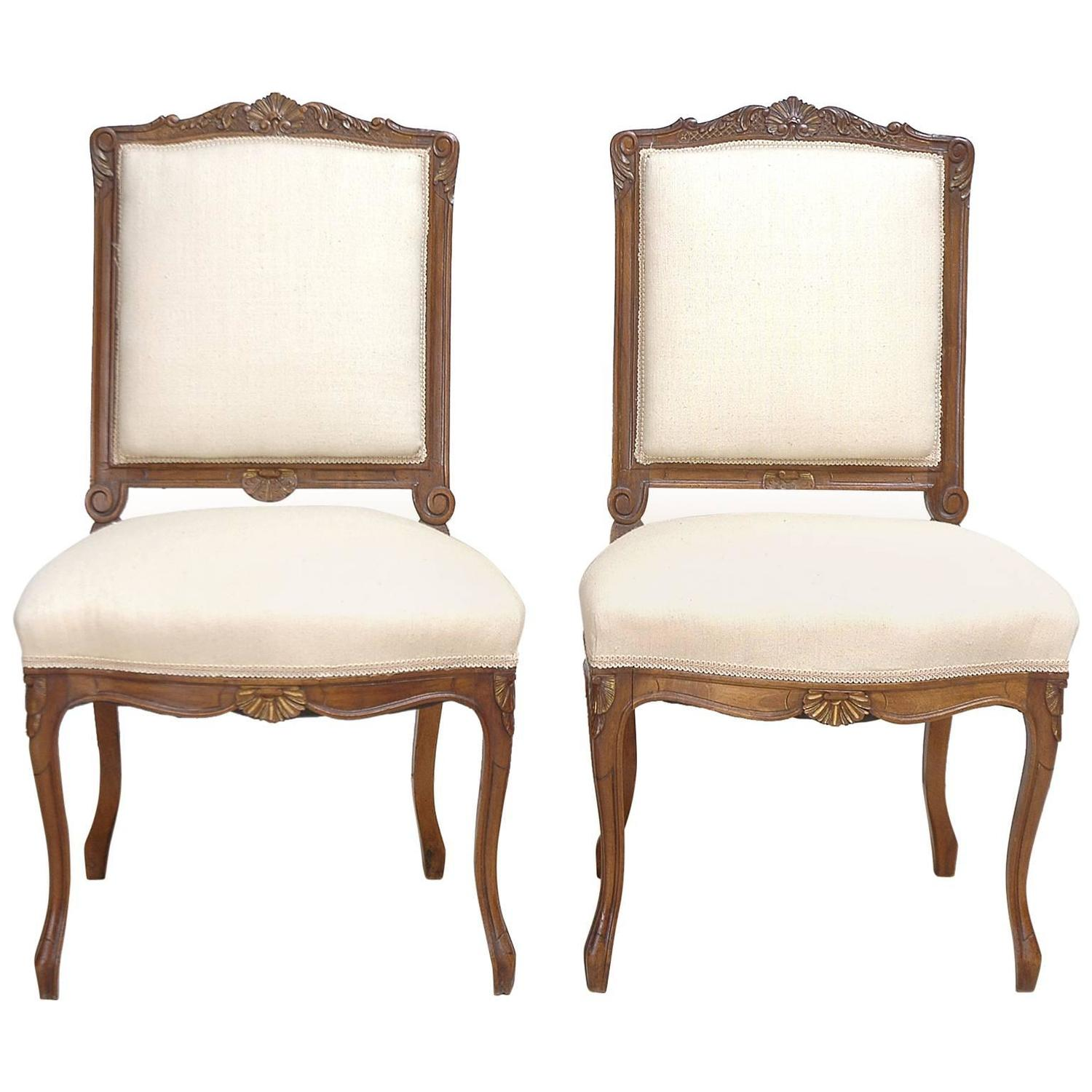 Pair Of 19th Century French Regency Style Chairs