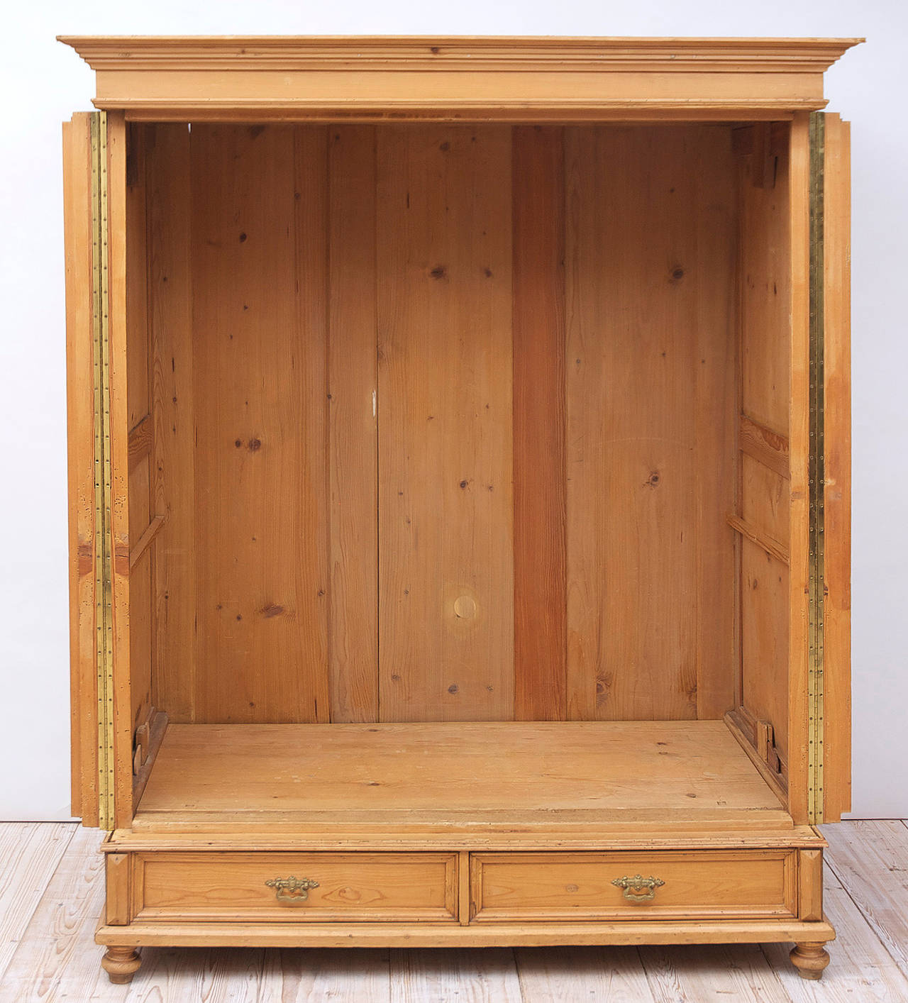 large 19th century pine armoire antique english pine armoire