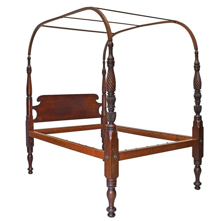 American Four Poster Quot Field Quot Bed W Arched Canopy Carved