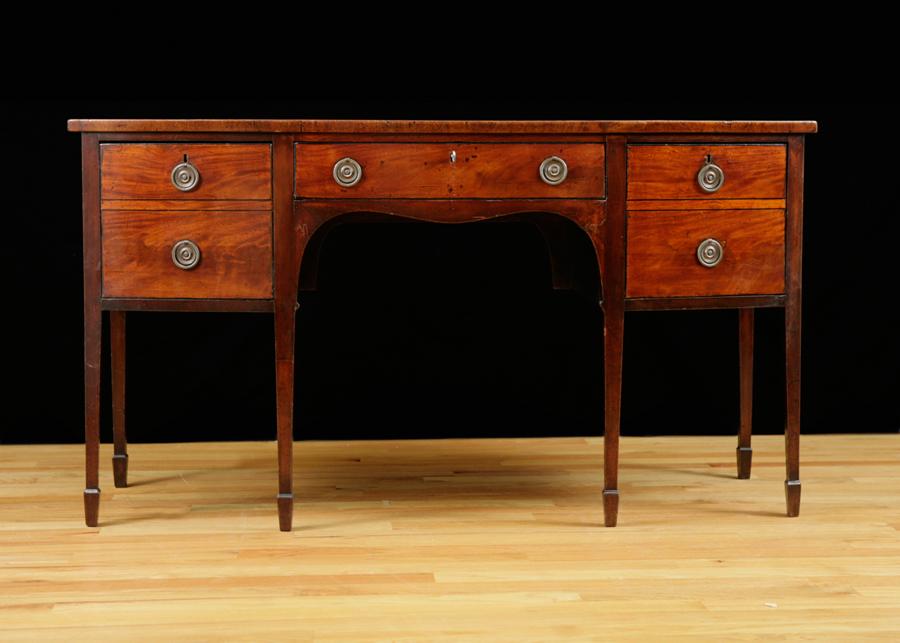 English george iii bow front sideboard in mahogany c for Sideboard lindholm iii