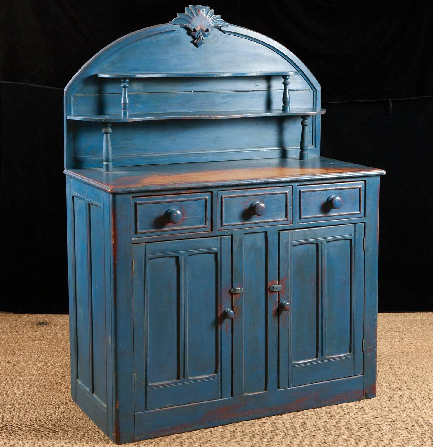 english cupboard in pine with blue paint circa 1880 antique english pine armoire