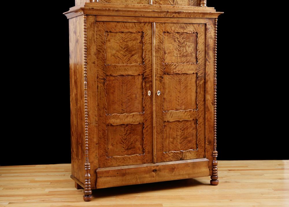 Antique German Biedermeier Cabinet in Fire Birch, c. 1835 - Bonnin ...
