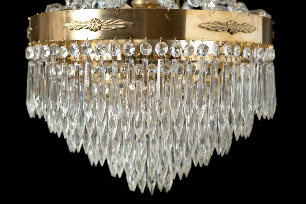 Antique cut glass chandelier sweden c 1900 bonnin ashley faceted cut glass crystal chandelier sweden circa 1900 mozeypictures Images