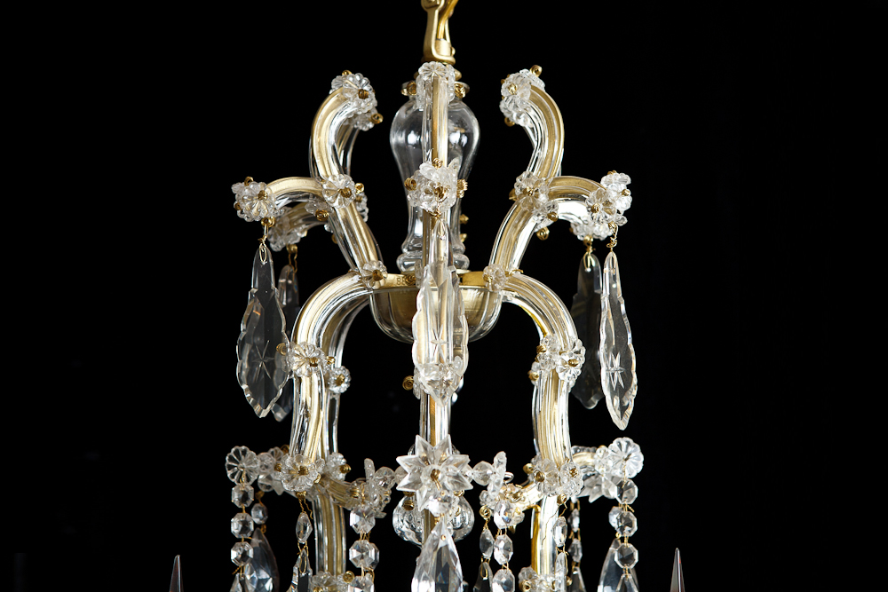 Antique maria thersea 6 light cut glass chandelier aloadofball Choice Image