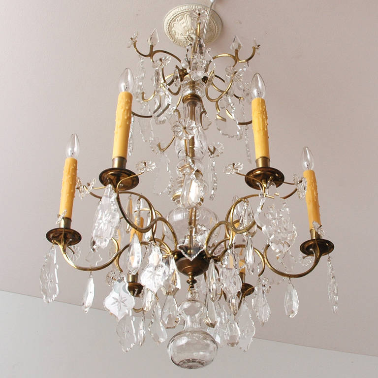 Rococo style crystal chandelier with six lights c 1870 for What is the other name for the rococo style