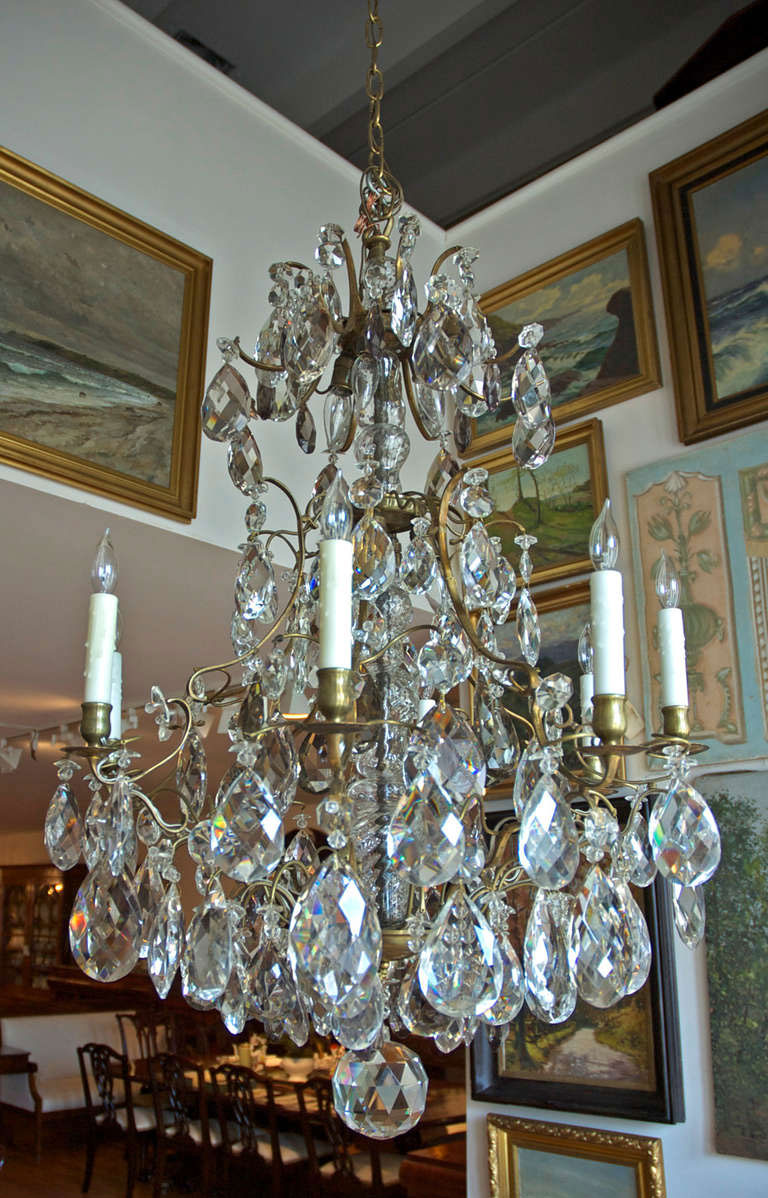 Rococo style swedish crystal chandelier with sixteen lights c rococo style swedish crystal chandelier with sixteen lights c 1910 arubaitofo Gallery