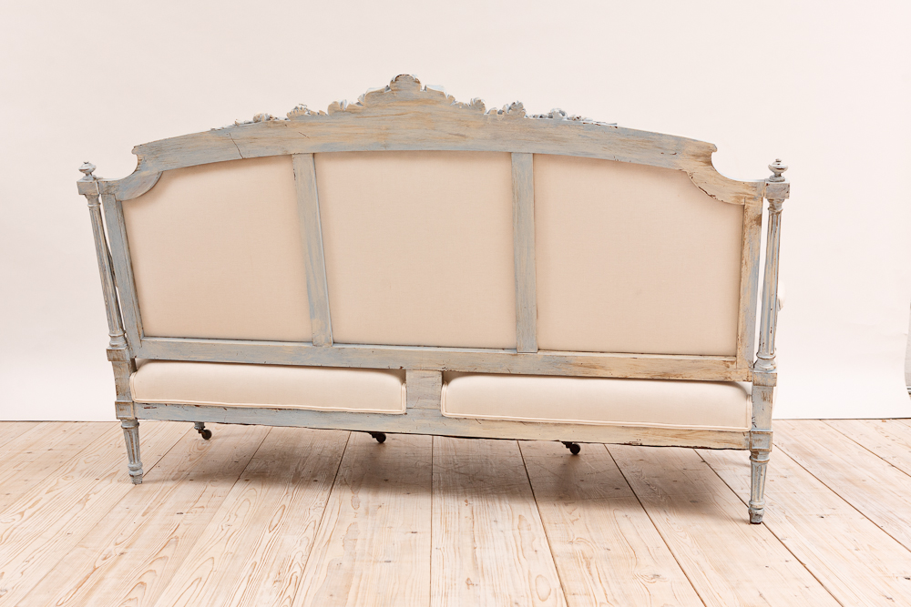 Painted French Louis XVI Style Sofa, C. 1880