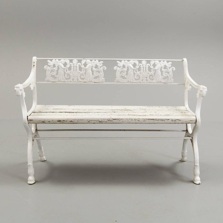 Enjoyable Late 19Th Century Victorian Cast Iron Garden Bench With Machost Co Dining Chair Design Ideas Machostcouk