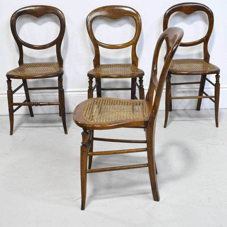 Set of Four Country French Chairs with Woven Cane Seats & Set of Four Country French Chairs with Woven Cane Seats - Bonnin ...