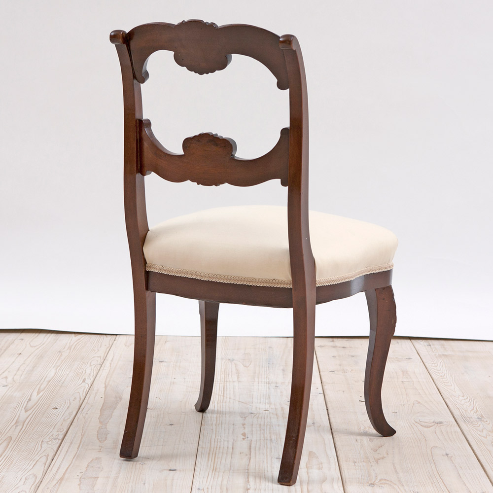 Set of Eight Antique American Dining Chairs in Mahogany, c.1845 - Set Of Eight Antique American Dining Chairs In Mahogany, C.1845