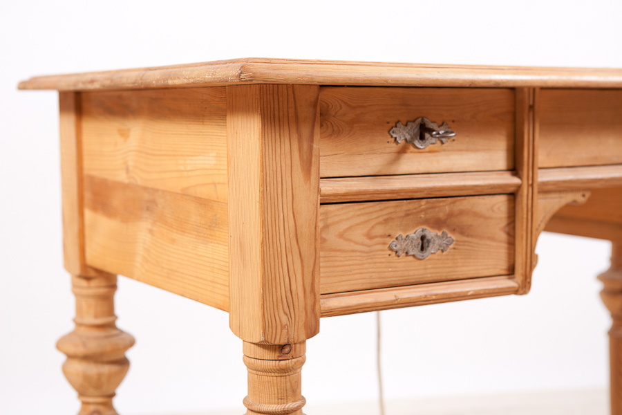 Antique Danish Hans Christian Anderson Desk in Pine  c 1870. Antique Danish Hans Christian Anderson Desk in Pine  c 1870