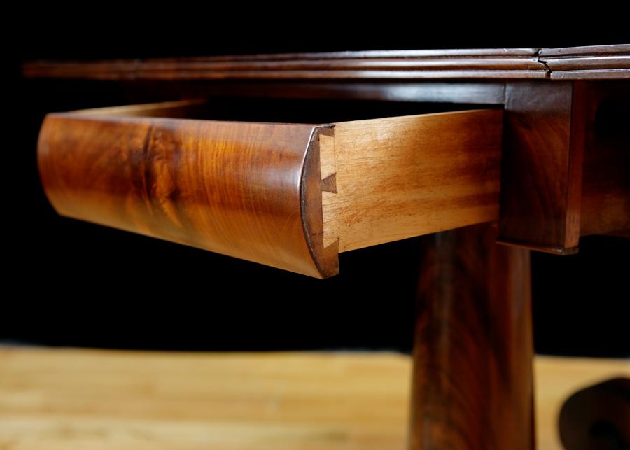 American Empire Greek Revival Drop Leaf Breakfast Table