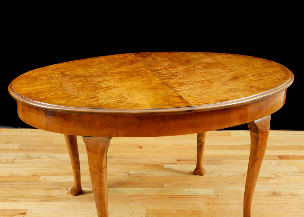 Antique Oval Dining Table In Birch