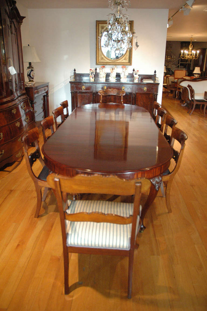 Extension Dining Table In Mahogany With Leaves Northern - Dining table with 3 leaves