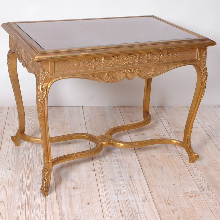 Belle Epoque Gilded Writing Table in the Style of Louis XV - Bonnin ...