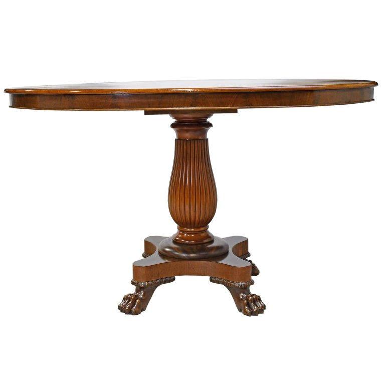 Amazing Empire Pedestal Table In West Indies Mahogany With Oval Top Beutiful Home Inspiration Aditmahrainfo