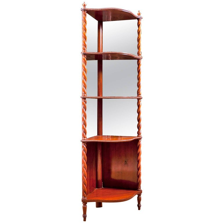 antique danish etagere with turned columns in mahogany c. Black Bedroom Furniture Sets. Home Design Ideas