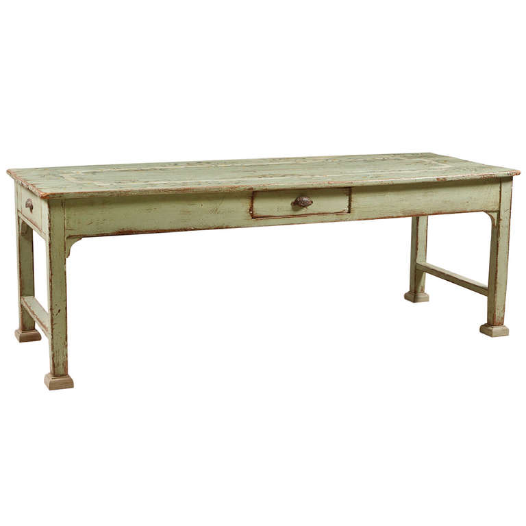 Painted Farm House Dining Table Bonnin Ashley Antiques Miami FL