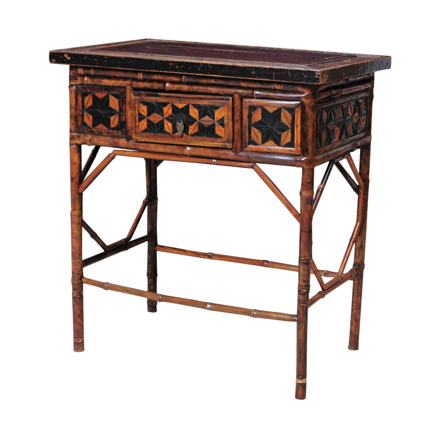 18th century bamboo side table bonnin ashley antiques for Bamboo side table