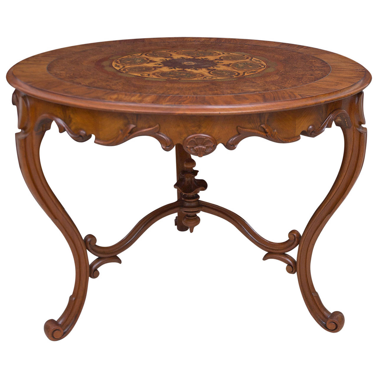 19th century italian center table with mosaic marquetry on for Table th center text