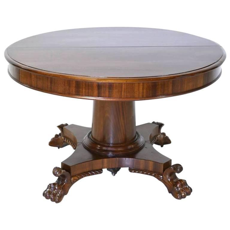 round empire center pedestal dining table with four extension leaves circa 1830 - Pedestal Dining Room Table With Leaf