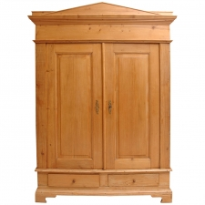 Neoclassical Pine Armoire, circa early 1800's