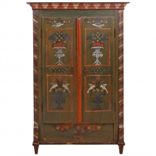 18th Century Painted Dower Armoire from Alsace Lorraine