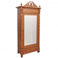 Fine Belle Epoque Faux Bamboo Armoire from France, circa 1890