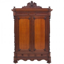Large Antique French Napoleon III Armoire in Mahogany, circa 1870