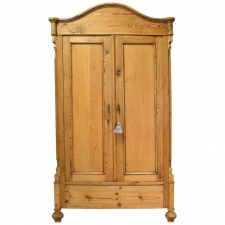 German Louis Philippe Pine Armoire Outfitted With Drawers, Circa 1860