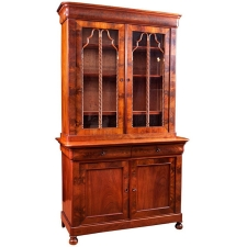 Antique French Charles X Bookcase in Mahogany, circa 1830