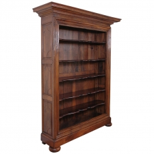 Large French Bookcase in Walnut