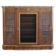 Napoleon III Hall Cabinet in Walnut with Ormolu in the Louis XVI Style