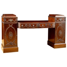19th Century Pedestal Sideboard in the Style of Robert Adam