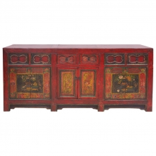 19th Century Chinese Painted Coffer or Sideboard
