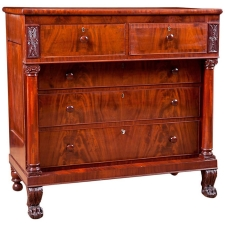 Antique Federal Chest of Drawers in Mahogony, American, c. 1815